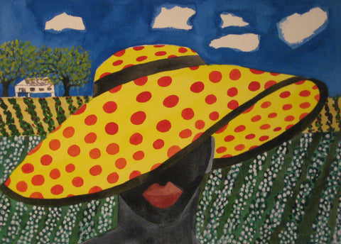 Woman in Red Polka Dot Hat - Linda Elksnin