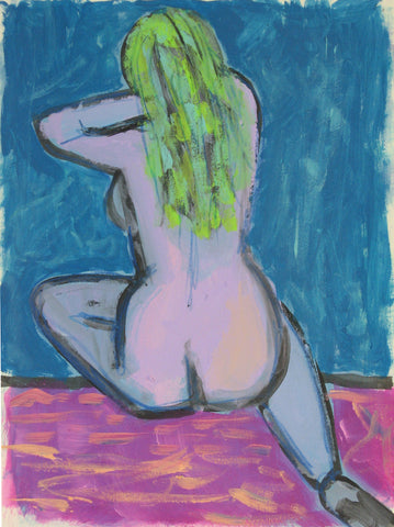 Woman With Green Hair- Linda Elksnin