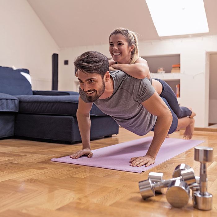 Get fit with your partner.