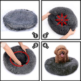 Plush Dog Donut Cushion