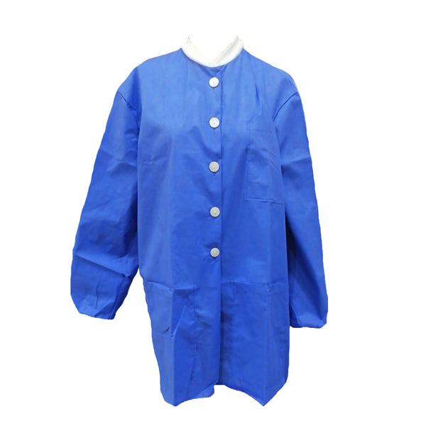Lab Coat With Buttons SMMS NO Pockets