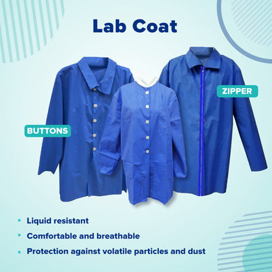 Lab Coat SpundBound Buttons Pockets