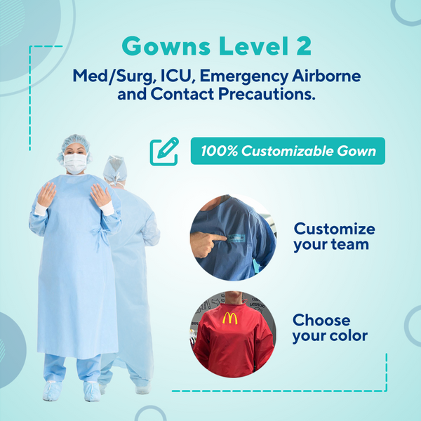 Disposable Gown Level 2  FDA Certification