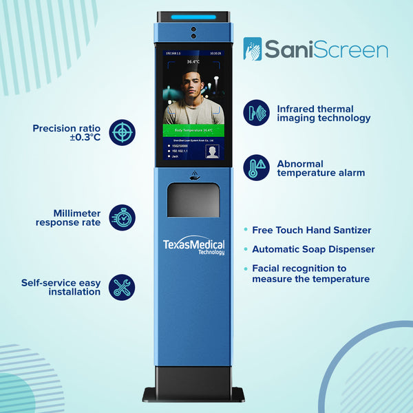 SaniScreen Temperature Measuring & Disinfection
