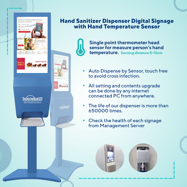 SaniScreen Automated Sanitizer Dispenser Internet Control