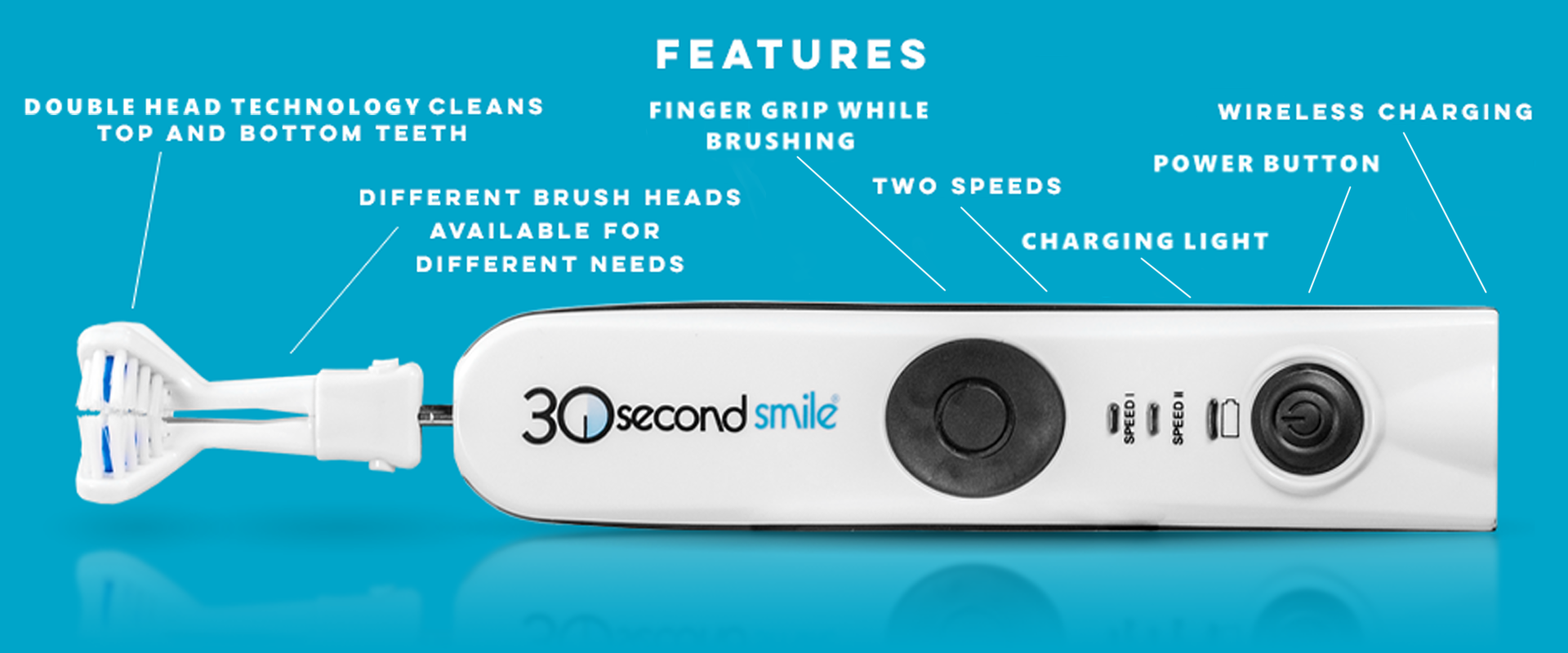 30 Second Smile Electric Rechargeable Toothbrushes