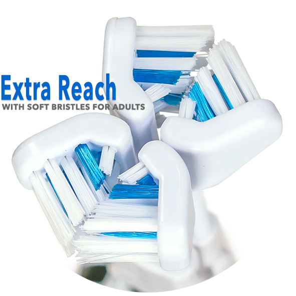 30 Second Smile Extra Reach Standard Soft Replacement Brush Heads