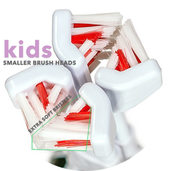 30 Second Smile KIDS Extra Small & Extra Soft Replacement Brush Heads (Also for Adults with Small Mouths)