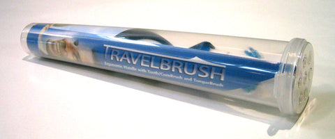 Travel Brush with Multi-Surface, Dual Brush Head, Tongue Brush, and Ergonomically Designed Handle for Ease of Use