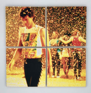 ROLLING STONES - gold sparkles