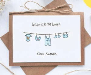 'Welcome Baby BOY' Card