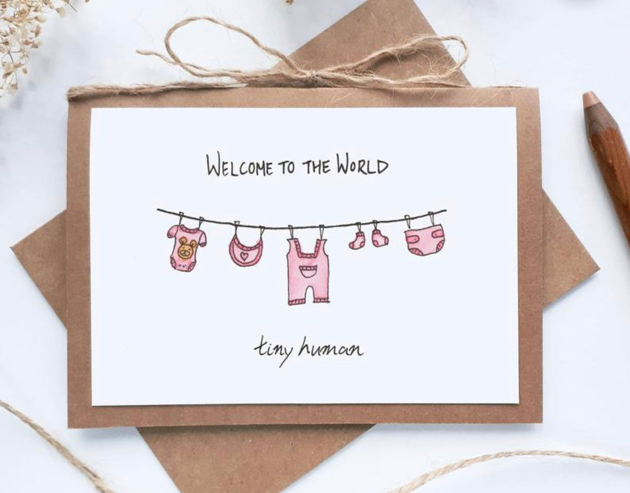'Welcome Baby GIRL' Card