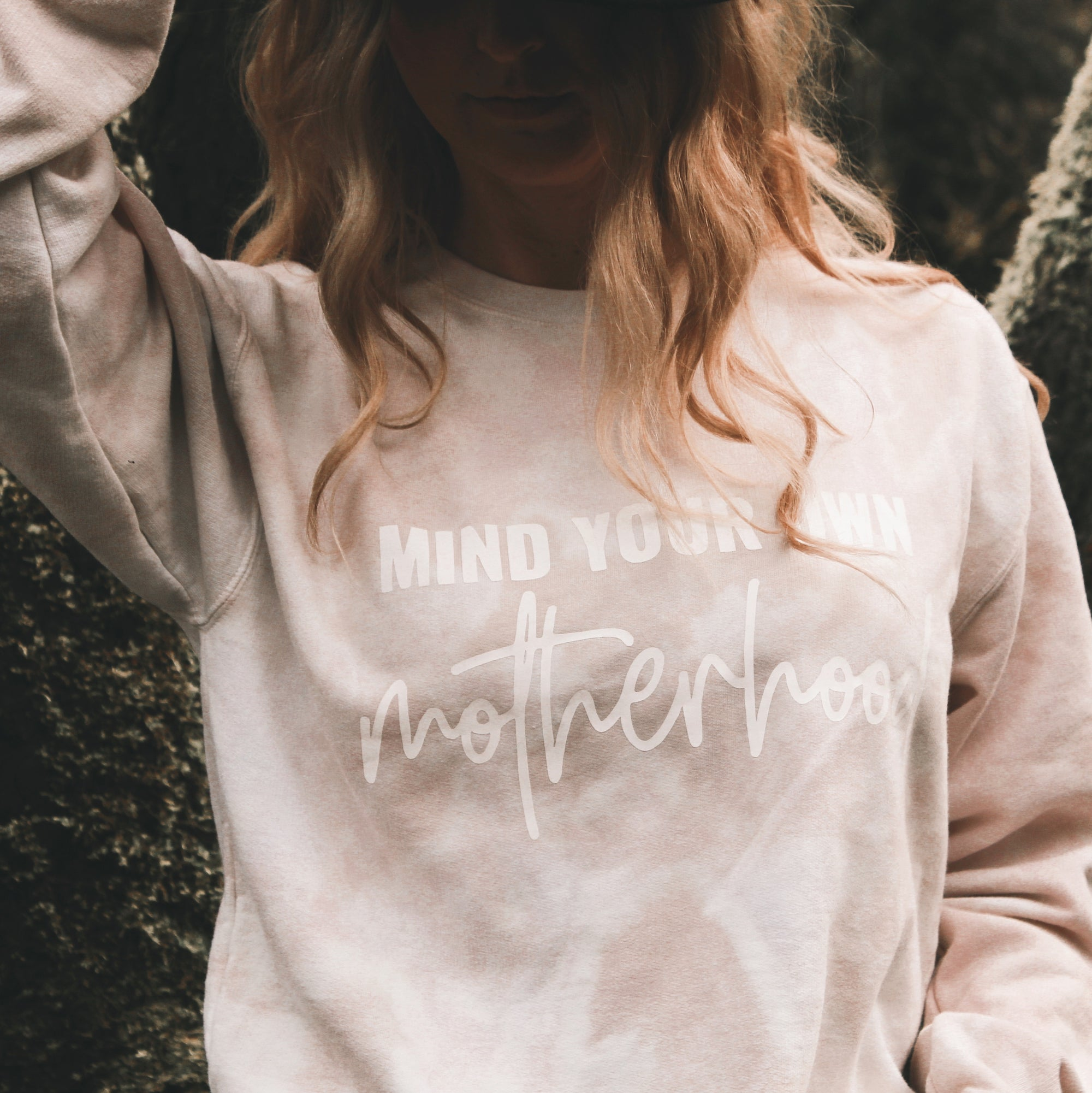 Mind Your Own Tie-Dye Motherhood Crew Neck
