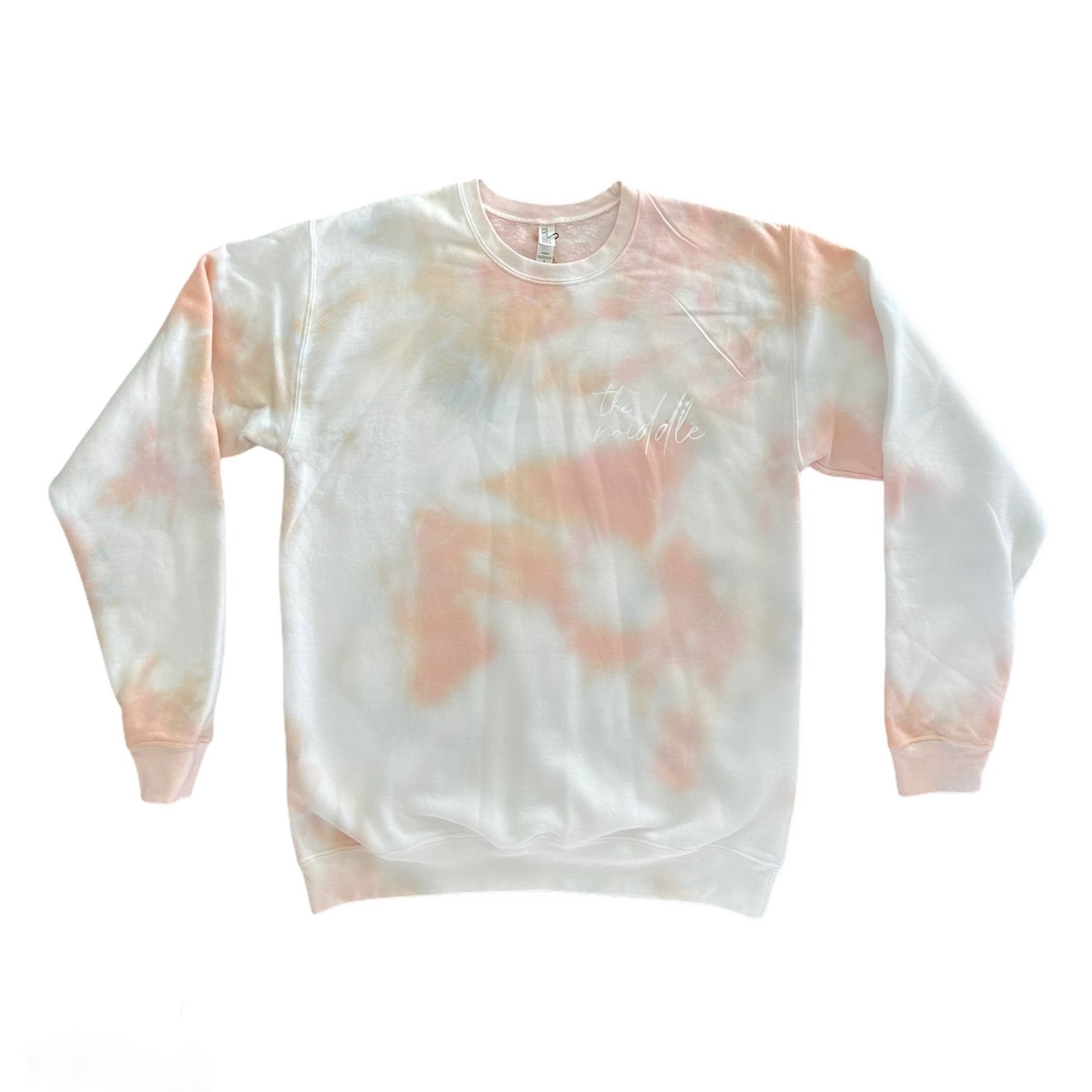 Peachy Tie-Dye Crew Neck Sweater