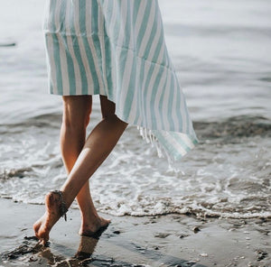 Oversized Turkish Towel - Aqua