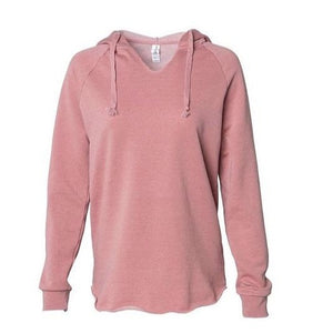 Dusty Rose Wave Wash Hoodie