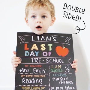 Double Sided First & Last Day of School Reusable Sign