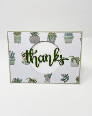 Plant Thank You Card (Blank)