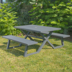 Banquet Deluxe 5ft Charcoal Aluminum Picnic Table