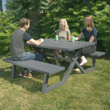 Load image into Gallery viewer, Banquet Deluxe 5ft Charcoal Aluminum Picnic Table