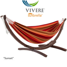 Load image into Gallery viewer, Double Sunbrella®  Hammock with Solid Pine Stand