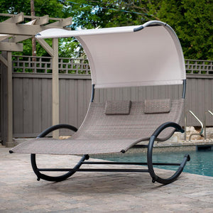 Double Chaise Rocker - Steel