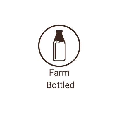 Our camel milk is farm bottled.