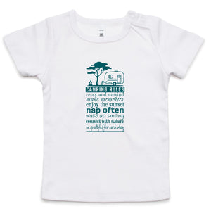 """Camping Rules"" Infant Wee Tee"