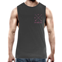 "Load image into Gallery viewer, ""RV There Yet?"" Compass Arrow Mens Tank Top"