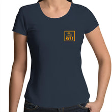 "Load image into Gallery viewer, ""RVTY"" Womens Scoop Neck Tee"