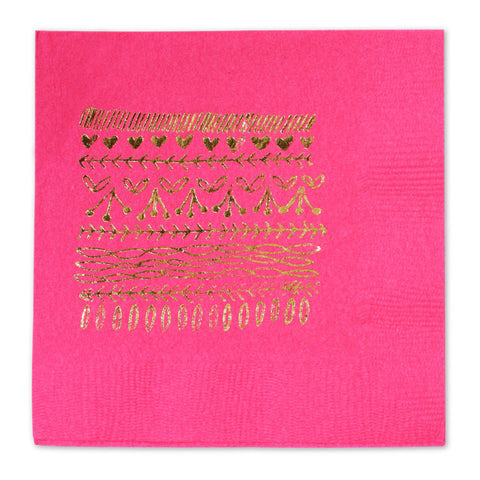 GOLD FOIL STAMPED BEVERAGE NAPKINS