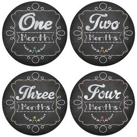 CHALKBOARD MONTHLY BABY STICKERS