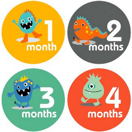 LITTLE MONSTERS MONTHLY BABY STICKERS