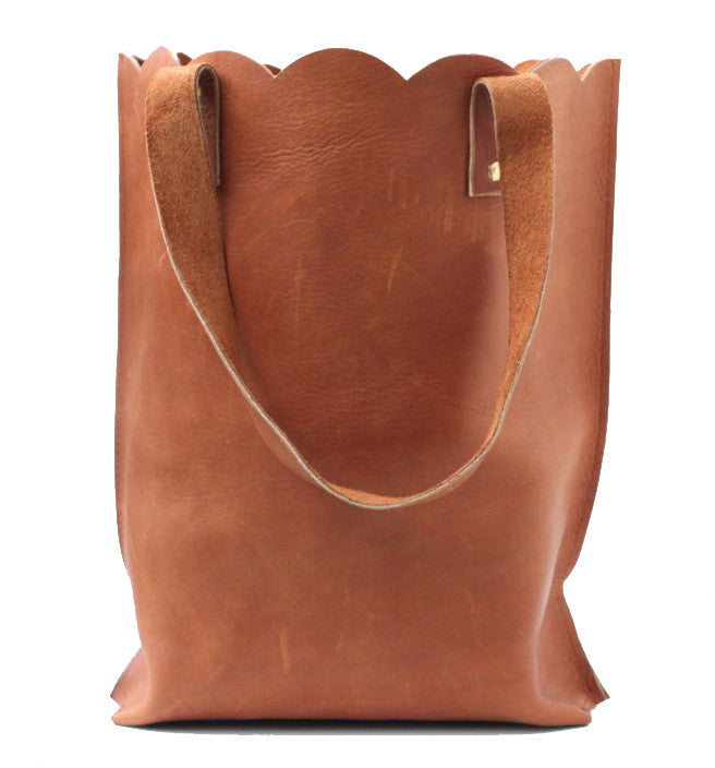 SCALLOPED NORTH SOUTH TOTE