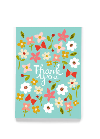 THANK YOU BLOSSOMS GREETING CARD