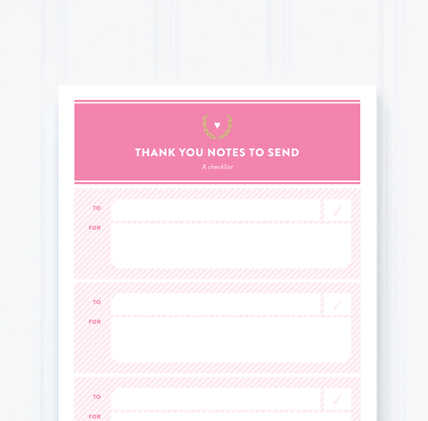 THANK YOU NOTES NOTEPAD