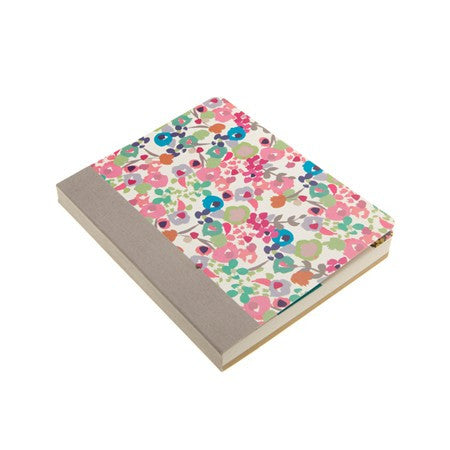 FLOWER NOTEBOOK W/STICKER SHEET