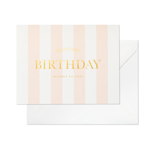 HAPPIEST BIRTHDAY STRIPE CARD
