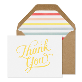 HAPPY THANK YOU, YELLOW BOXED