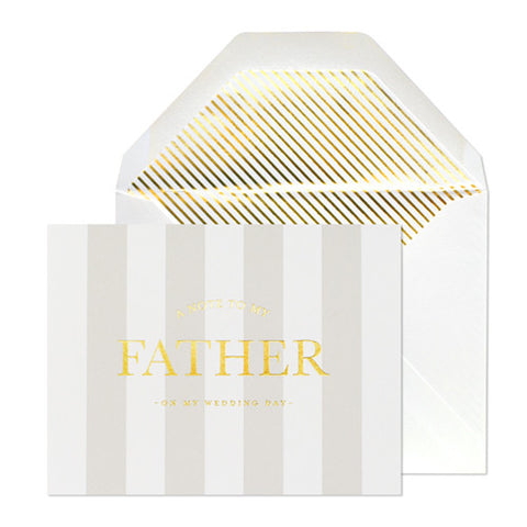 WEDDING NOTE TO FATHER CARD