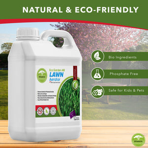 Eco Garden PRO Lawn Aerator - Loosener for Compact Soil Aeration | Replace Manual Aeration - 1 Quart