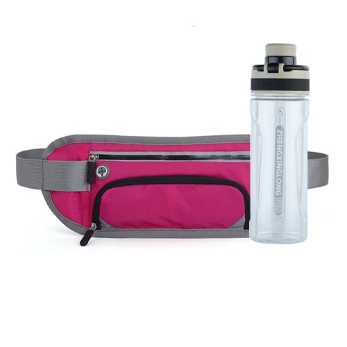Running Waist Belt with Water Bottle
