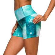High Waist Fitness Shorts with Side Pocket