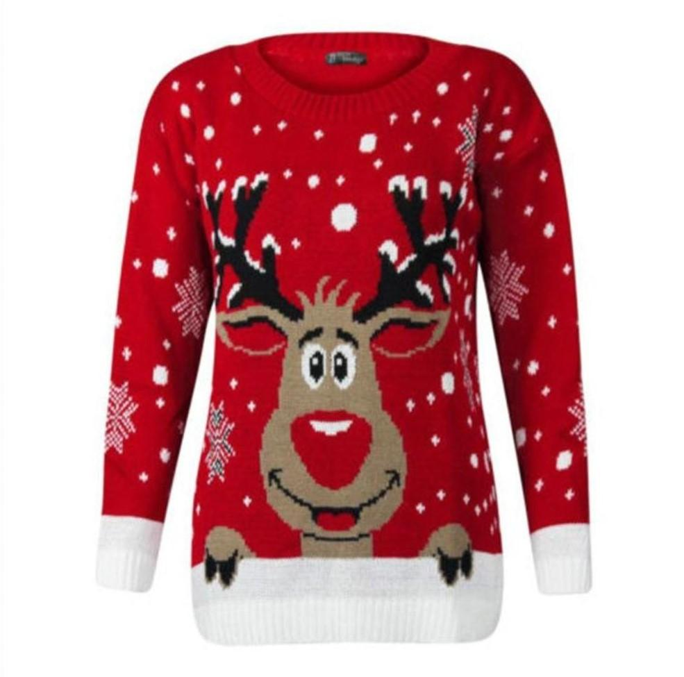 Ugly Christmas Sweater - Happy Reindeer