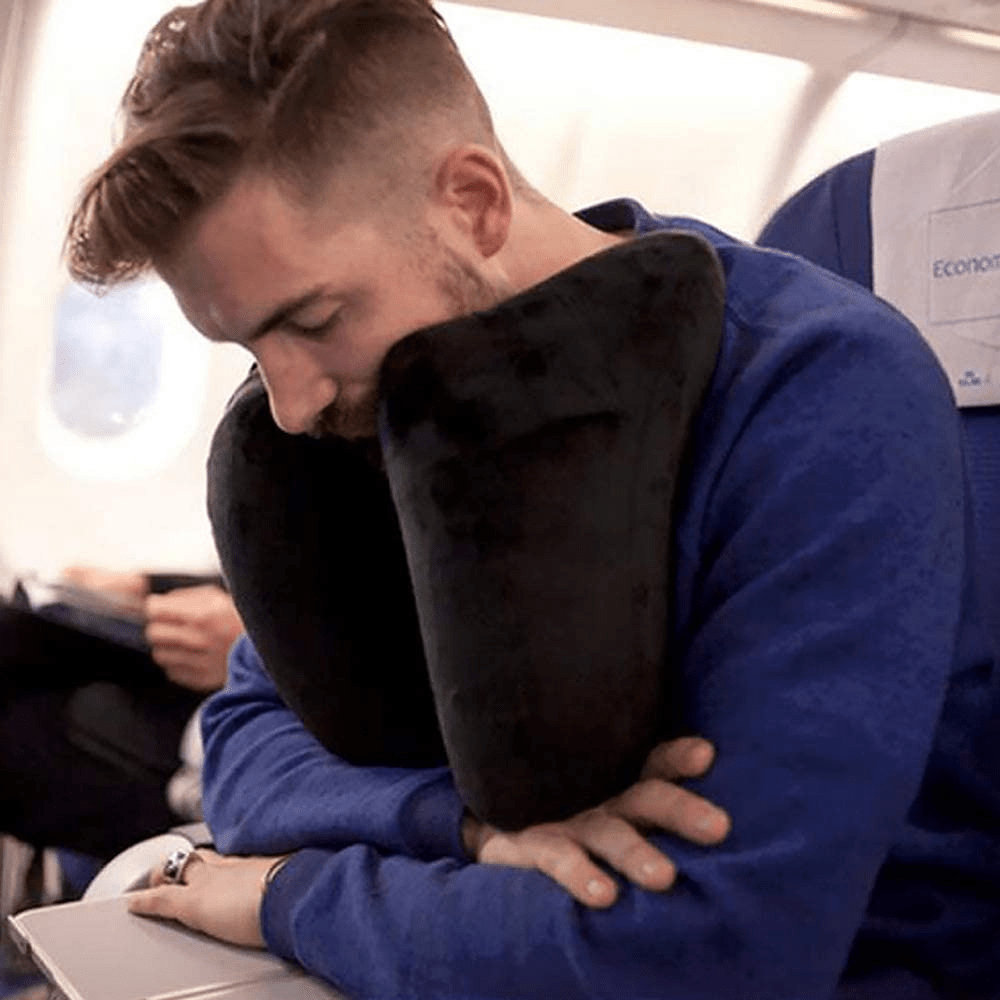 U-Shaped Pillow - Inflatable Travel Pillow - Lightweight and Easy to Pack