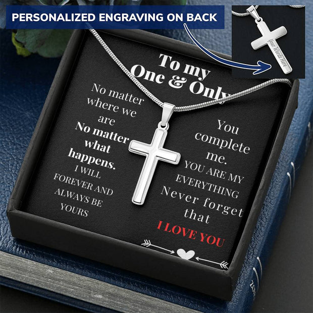 You Complete Me - Cross Necklace
