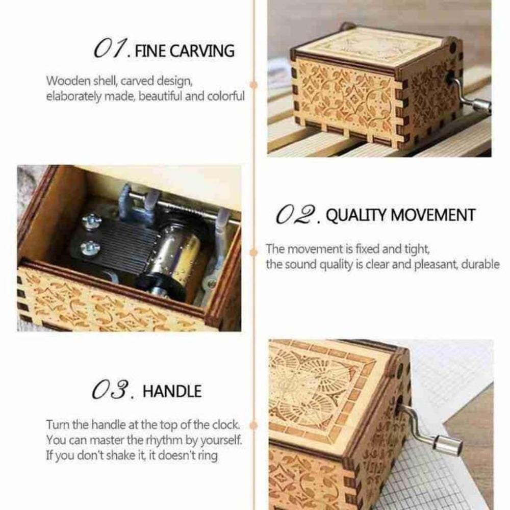 """Dear Mom - Music Box Gift for Mom """"You Are My Sunshine"""" Tune"""