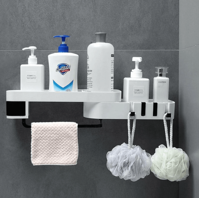 Shower Organizer and Storage Rack Nail- Easy Set up