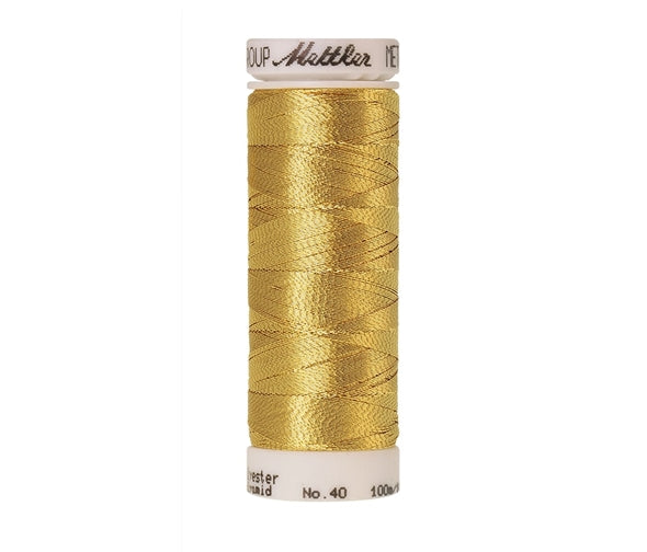 Mettler Metallic Embroidery Thread 100m Gold 2108