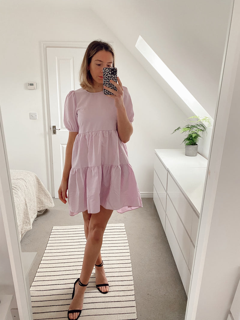 Playing To Win Lilac Smock Dress